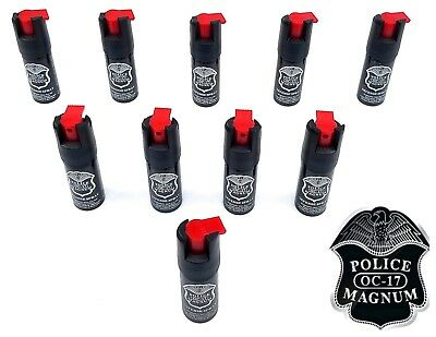 10 PACK Police Magnum pepper spray 1/2oz unit safety lock self defense security
