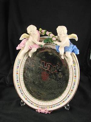 Gorgeous 19Th Century Antique Mirror, China Frame, Featuring Cherubs & Garlands