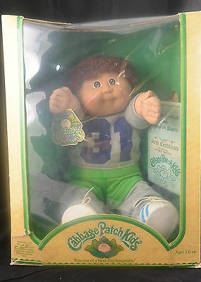 Vintage Collectible 1983 COLECO CABBAGE PATCH KIDS Boy Doll Brown Hair TOY #1769