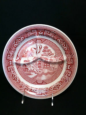 Grill Plate Vintage Sterling Wellsville Ohio Burgundy Oriental EUC