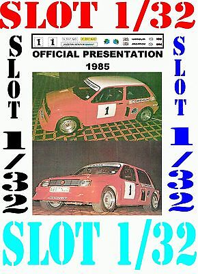 DECAL SLOT 1/32 MG METRO 6R4 OFFICIAL PRESENTATION 1985 (04)
