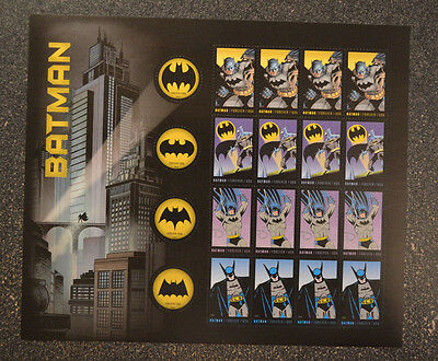 2014USA #4928-4935 Forever - Batman - Mint Sheet of 20  postage *small flaw*