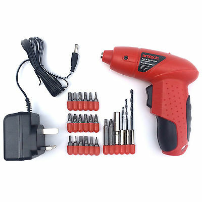 Rechargeable New Cordless Universal Electric Screwdriver Drill Set Bit Battery
