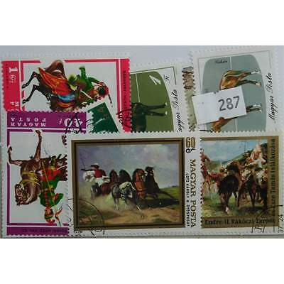 Horses. 25 stamps, all different. (287)