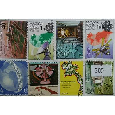Maps. 25 stamps, all different. (305)