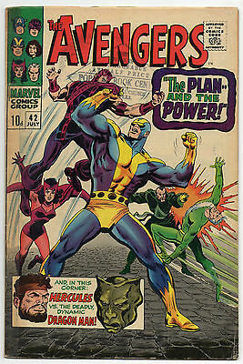 Avengers Vol 1 No 42 Jul 1967 (VG) Marvel, Silver Age (1956 - 1969)