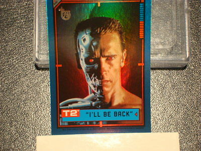 """2013 TOPPS 75TH ANNIVERSARY """"TERMINATOR 2:  JUDGEMENT DAY"""" PARALLEL FOIL #97"""