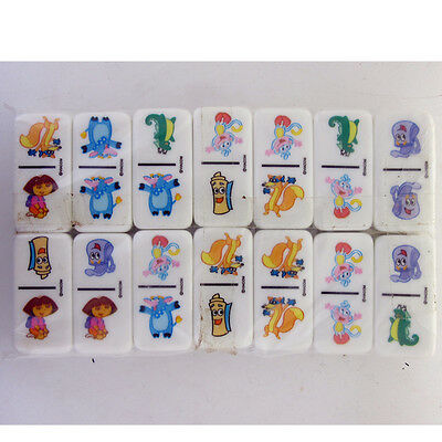 Rare 1999 Classic Children's Dora the Explorer Domino Dominoes ( 28pcs per Set )