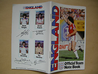 ~BRAND NEW~ VINTAGE ENGLAND OFFICIAL FOOTBALL TEAM RULED NOTEBOOK from 1978