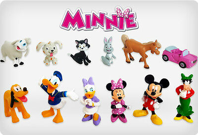 Disneys Minnie Mouse Cake Toppers Mickey Clubhouse Set Of 12 Figures