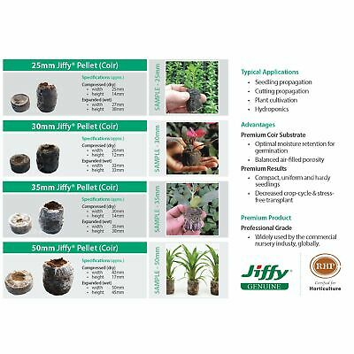Jiffy®-7 Coir Pellets 25, 30, 35 & 50mm sizes. For seed & cutting propagation.