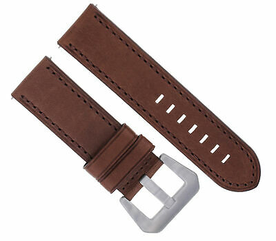 24Mm Leather Watch Band Strap For 44Mm Panerai 88 562 441 90 104 560 D/Brown #3