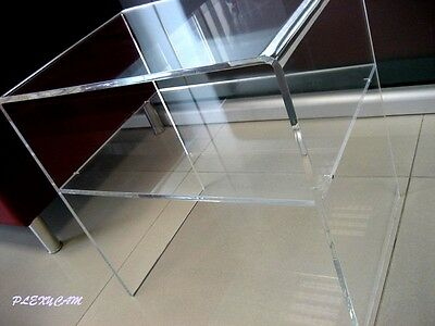 Plexycam Tavolino Comodino in Plexiglass Brillante 35x33x40H mensola spess 8mm