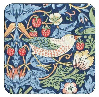 Pimpernel Morris & Co Strawberry Thief Coasters Drink Mats Blue Set of 6 New Box