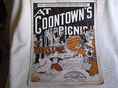 At Coontown's Picnic/1899 Cakewalk Rag by Hans S Line/Black Americana Cover