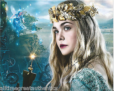 ACTRESS ELLE FANNING SIGNED AUTHENTIC 'SUPER 8' 8X10 PHOTO B w/COA MALEFICENT