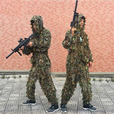 3D Camouflage Leaf Clothing Hunting Camo Yowie Sniper Archery Ghillie Suit Set