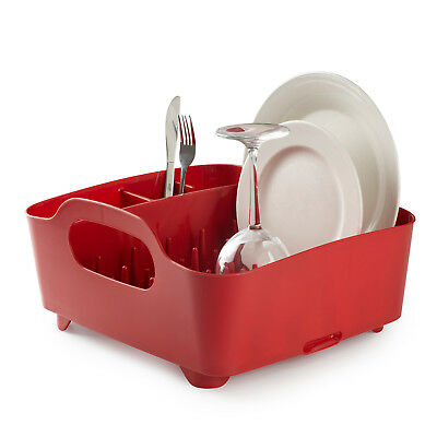 Umbra Tub Dish Rack - Red