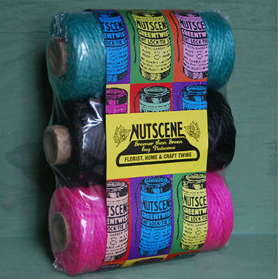 Nutscene triple pack coloured twine garden crafting hobby wrapping string