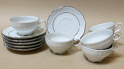 VINTAGE SET OF 6 TONGANA DEMITASSE CUP & SAUCER SETS MADE IN ITALY