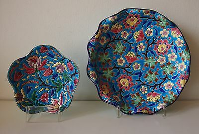 2 Dishes / Coupes *emaux De Longwy* France