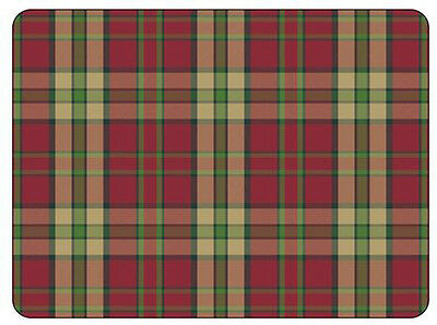 Pimpernel Tartan Red Placemats Set of 6 Table Mat Cork Back Hardboard Boxed New
