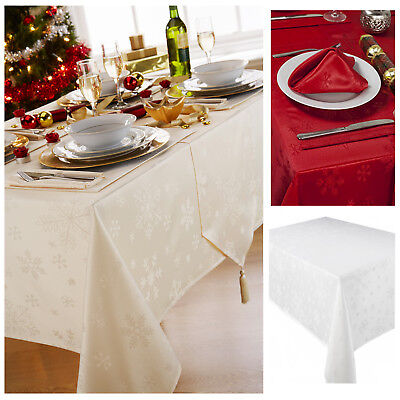Blizzard Christmas Tablecloth Range - 4 Stunning Colours - Items Sold Separately