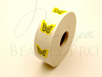 Roll of 1000 SMALL BUTTERFLY Tanning Stickers Spraytan Scrapbooking