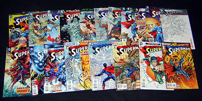 Superman #0-20 Large but Incomplete Set 2011 All 1st Prints DC The New 52 VF/NM