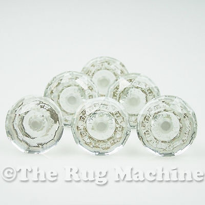 CHIC SET of 6 CLEAR X-LARGE CRYSTAL DOOR FURNITURE CABINET DRAW KNOB 65mm **NEW*