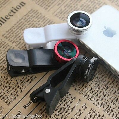 HTC/Nokia/iPhone/Samsung/ Magnetic Wide 180°Fish Eye Super Macro Cellphone Lens