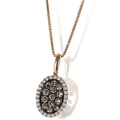 Goldmaid Anhänger Glamour Champagner 585 Rotgold 36 Brillanten 0,30 ct.