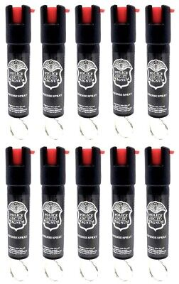 10 PACK Police Magnum pepper spray 3/4oz ounce Keyring Safety Defense Security