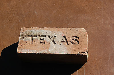 Vintage Texas Brick TEXAS Stamped in Brick