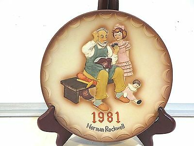 "Norman Rockwell ""the Shoemaker"" Collector Plate"