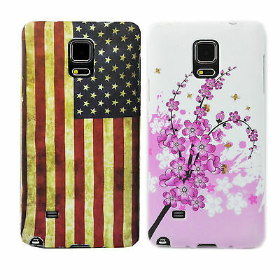 2Pcs Brand New Soft Silicone TPU Back Case Cover For Samsung Galaxy Note 4 IV