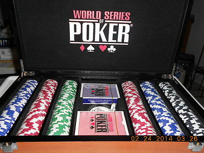 Professional 11.5 Gram WSOP Poker Chip Set with Wooden Case , NEW!!!!!!