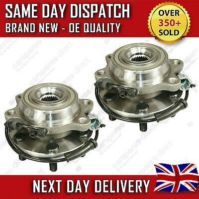 2X NEW FRONT WHEEL BEARING FIT FOR A NISSAN NAVARA 2.5 D40 DCi 4X4 2005>on