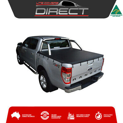 Ford Ranger PX XLT Dual Cab Ute Sept2011-May2015 Bunji Tonneau Cover-fits S/bar