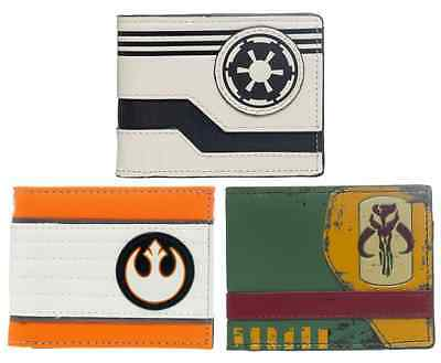 Officially Licensed Star Wars Logo Bi-Fold Billfold Wallet *Pick Your Style*
