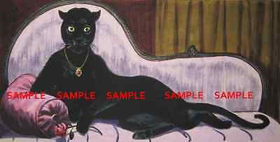 """Disney Haunted Mansion Cat Woman Painting 8.5"""" x11"""" Poster [ Part Two ]"""