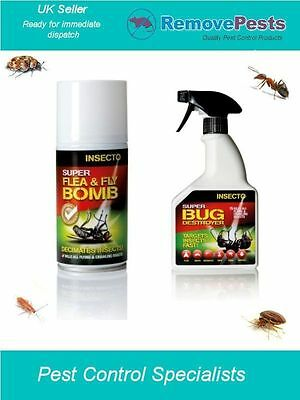 Bed bug killing poison spray kit with smoke fogger bomb for bedbugs for the home