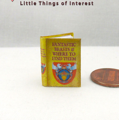 FANTASTIC BEASTS Magical Textbook Illustrated Miniature Dollhouse 1:12 Scale POT