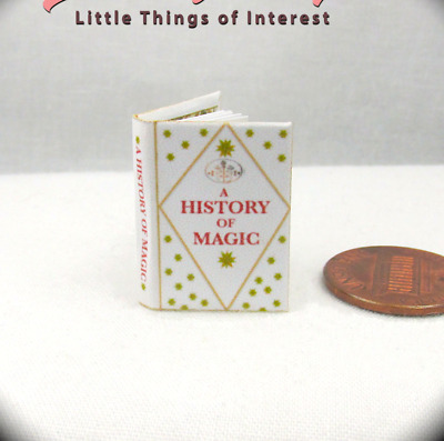 A HISTORY OF MAGIC Hogwarts Textbook Miniature Book 1:12 Scale HARRY POTTER