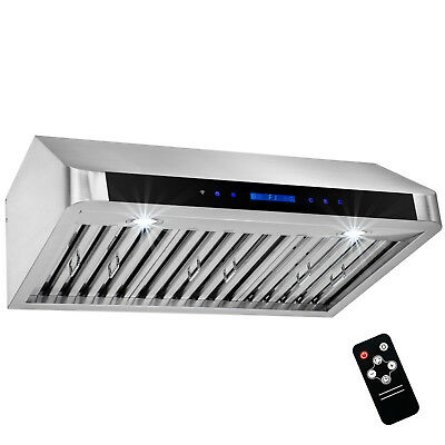 """30"""" Stainless Steel Under CabinetTouch Panel Kitchen Cooking Fan Range Hood"""
