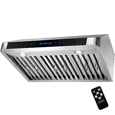 "30"" Stainless Steel Under Cabinet Touch Panel Kitchen Remote Control Range Hood"