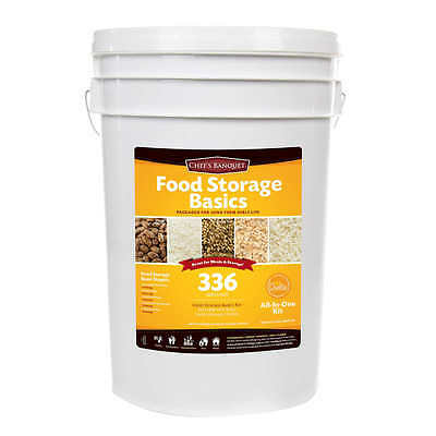 Ready Project 336 Servings Emergency Food Storage Basics Supply Gamma Lid Bucket