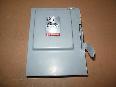 Westinghouse Heavy Duty 30 Amp 240 Volt Fused Safety Switch Disconnect HFN321 3P