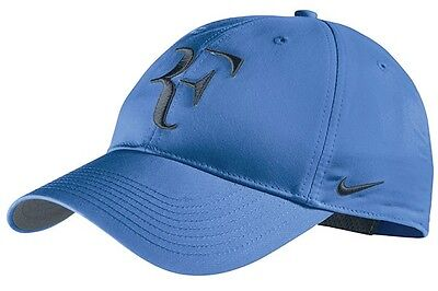 fcc445a5 New Nike RF Roger Federer Hat Cap Blue / Armory Navy Tennis Dri Fit 371202-