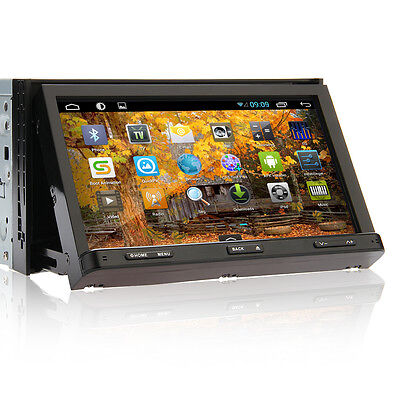 "7"" Android 4.2 Capacitive Double 2Din Car DVD CD Player GPS Radio Wifi 3G Stereo"